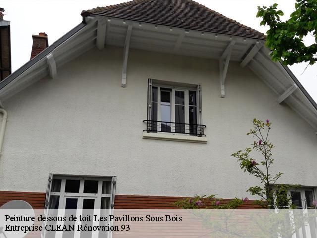 peinture de dessous de toit les pavillons sous bois t l. Black Bedroom Furniture Sets. Home Design Ideas